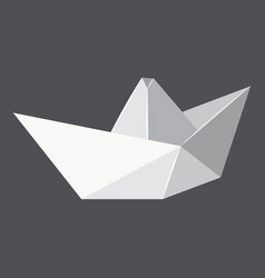 origami paper boat concept background realistic vector image