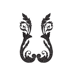 ornament vintage baroque vector image