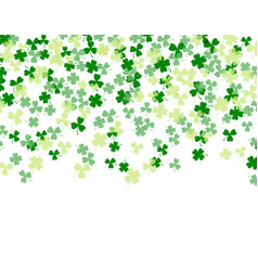 patrick s day clover leaves isolated on white vector image