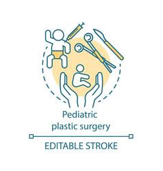 Pediatric plastic surgery concept icon vector