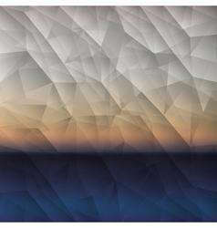 Polygonal background design vector image