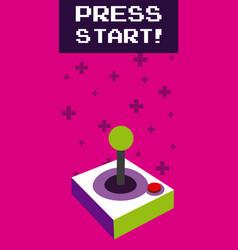 Press start vintage gamepad vector