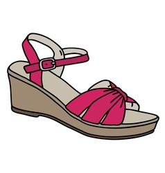 Purple womans sandal vector image