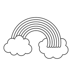 Rainbow LGBT icon outline style vector