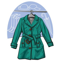 Raincoat vector