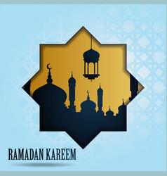 Ramadan kareem greeting islamic design with vector