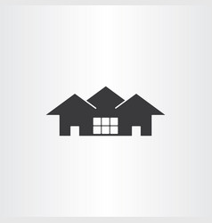 real estate icon house vector image