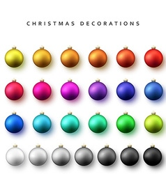 Realistic isolated Christmas balls vector image