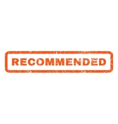 Recommended Rubber Stamp vector