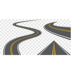 road way winding journey highway vector image