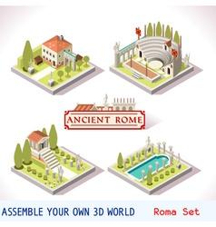 Roman 01 Tiles Isometric vector