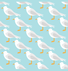 Seagull pattern vector