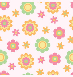 seamless flower texture for babies ideal for vector image