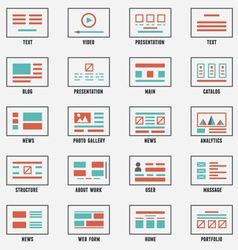 Set of sitemaps symbols for webpage vector
