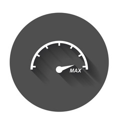Speedometer tachometer flat icon fuel level with vector