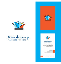 sydney creative logo and business card vertical vector image