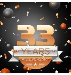 Thirty three years anniversary celebration vector