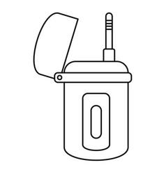 Underwater walkie talkie icon outline style vector