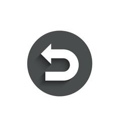 Undo arrow simple icon left turn vector