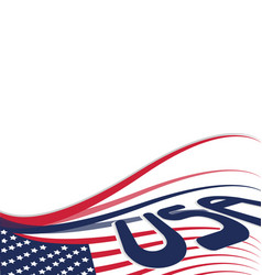 usa stars and stripe background vector image