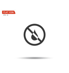 water drop forbidden no wet logo vector image