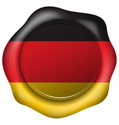 Wax seal with the Germany flag vector image