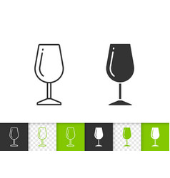 wine glass simple black line icon vector image