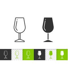 wine glass simple black line icon vector image