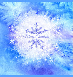 blue watercolor winter background vector image