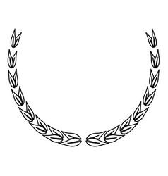 laurel leaves decoration elegant element vector image