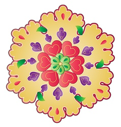 traditional Ottoman design with a pattern of two vector image