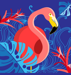 tropical with a portrait of a red vector image vector image