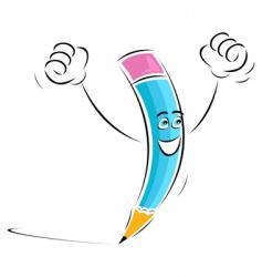 winning pencil vector image vector image