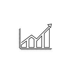 business growing graph line icon infographic vector image vector image