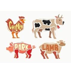 color Farm animals vector image vector image