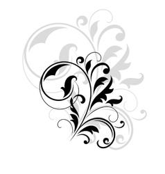 Decorative floral motif vector image