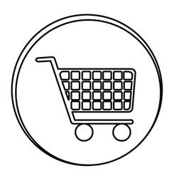 figure car shopping emblem icon vector image