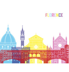 florence skyline pop vector image vector image