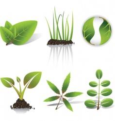 green symbols vector image vector image
