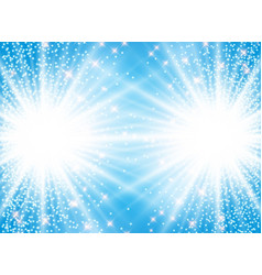 sunlight effect sparkle on blue background with vector image