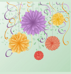 a greeting card with flowers for congratulations vector image