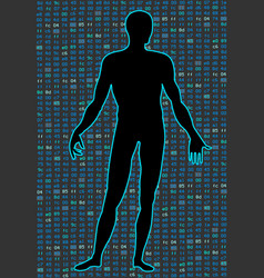 artificial intelligencesilhouette of a human body vector image