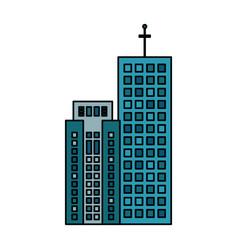 building construction luxury skyscraper vector image