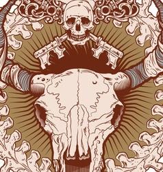 Cranio Ox vector image vector image
