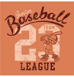 Cute baseball player vector image vector image