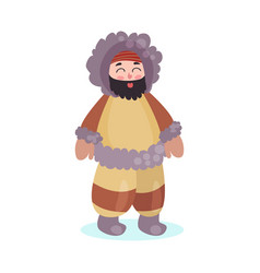 eskimos woman character dressed in national vector image vector image