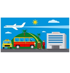 hotel transfer and resort vector image vector image