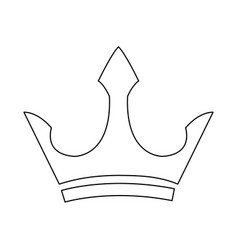 Male crown luxury object royal emblem outline vector