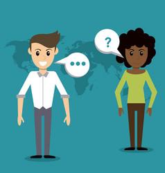 people communication talking world vector image vector image