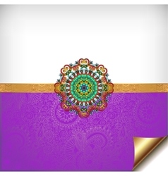 violet greeting card for indian festival sisters vector image